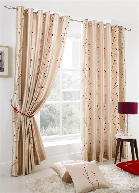 curtains uk blossom eyelet curtains cream free uk delivery terrys