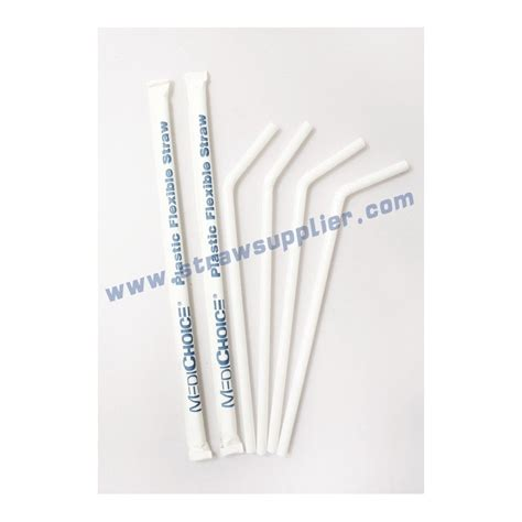 flexible printable printed paper wrapped flexible straws