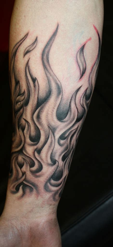 flame wrist tattoo images designs