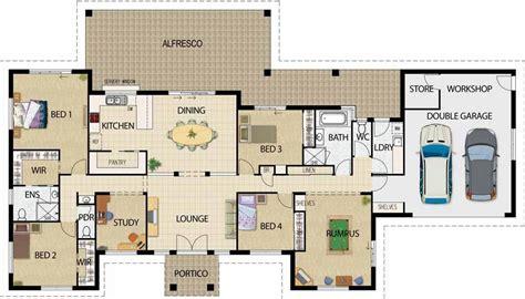 hacer plano plano de casa para construir de 5 habitaciones
