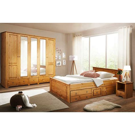 schlafzimmer massivholz landhausstil landhaus schlafzimmer set slavira aus kiefer massivholz