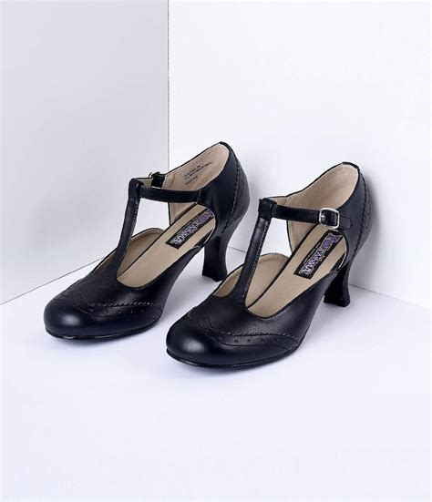 Heels T In Black By edwardian shoes boots titanic shoes
