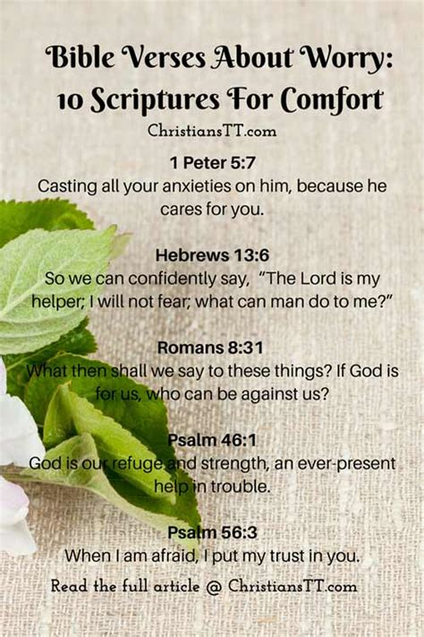 bible verses to give comfort bible verses about worry 10 scriptures for comfort