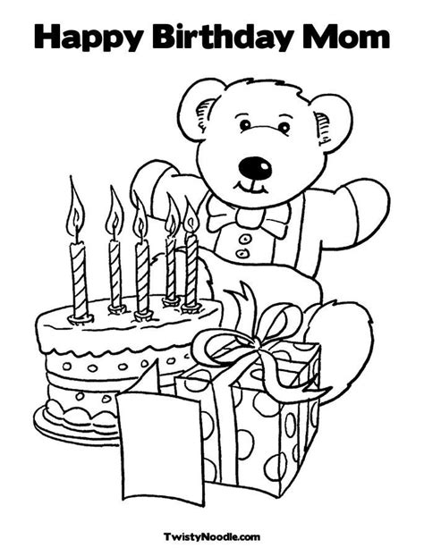 coloring pages that say happy birthday mom mom birthday coloring pages coloring home