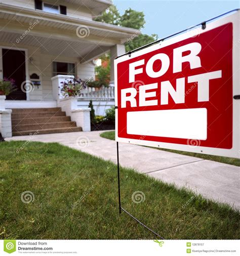home for rent sign royalty free stock photography image
