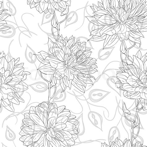 hand drawn wallpaper hand drawn floral wallpaper with set of different flowers