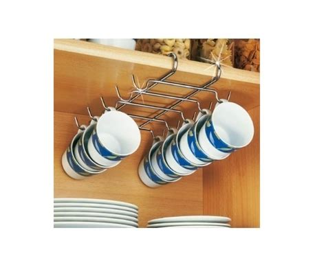 under cabinet mug rack large mug cup rack holder under shelf storage 10 cups mugs