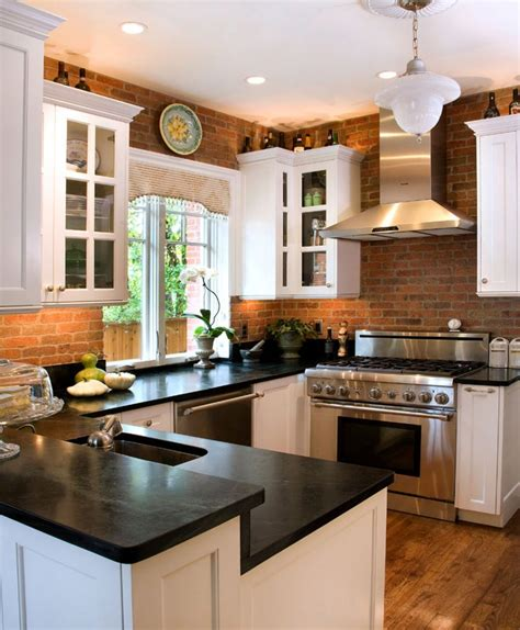 brick backsplash in kitchen kitchen white brick tiles for kitchen backsplash exposed
