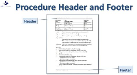 standard operating procedure template word beepmunk