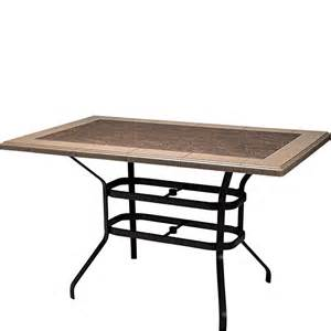 Pedestal Table Rectangle Wicker Occasional Outdoor And Patio Hickory Park Furniture