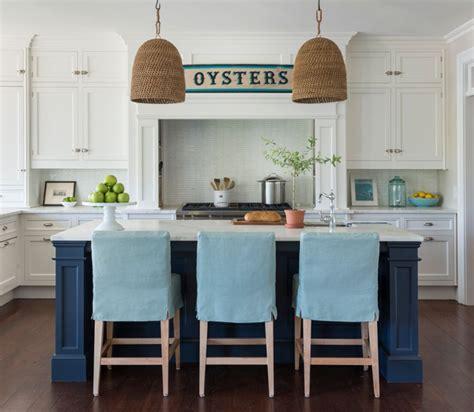 blue bar stools kitchen furniture turquoise slipcovered island stools cottage kitchen