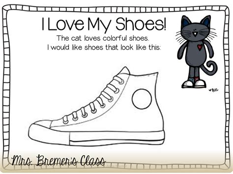 pete the cat coloring page shoes mrs bremer s class pete the cat