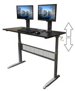 Sit To Stand Desk Reviews by Transcendesk Sit Stand Desk Review Exercise At The Desk
