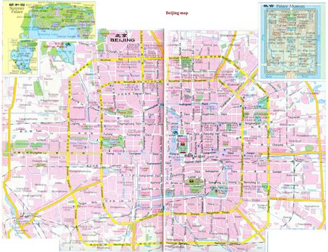 beijing map beijing city map beijing map in map of beijing china