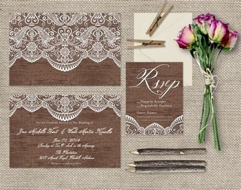 inspiration for a rustic vintage style wedding rustic lace wood wedding invitations shabby chic weddings or