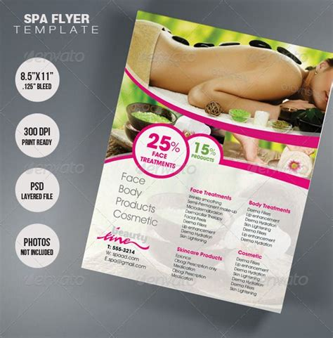 design flyer spa spa flyer template flyer template business design and spa