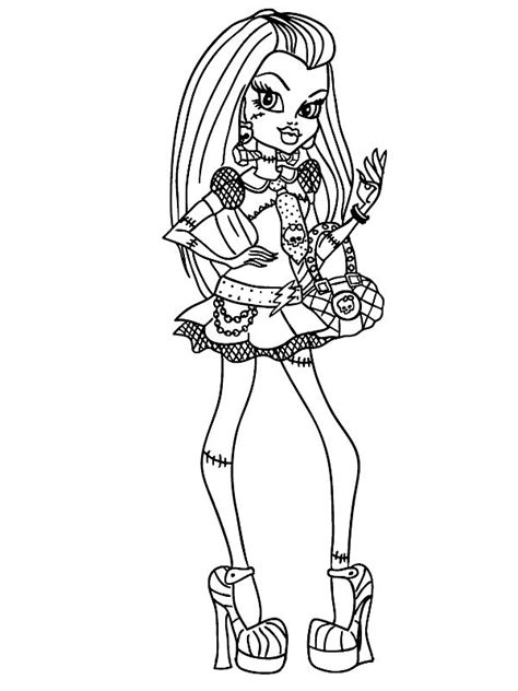kids n fun com coloring page monster high frankie stein