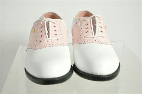 oxford golf shoes mizuno pink white leather brogue oxford golf shoes size 8