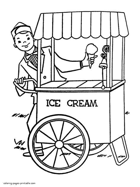 ice cream truck coloring page ice cream truck coloring page home sketch coloring page