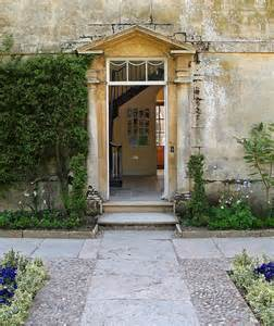 House front door open open door at hidcote manor by