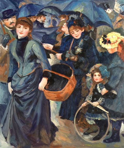 French Kitchen Cabinet renoir the umbrellas modern prints and posters