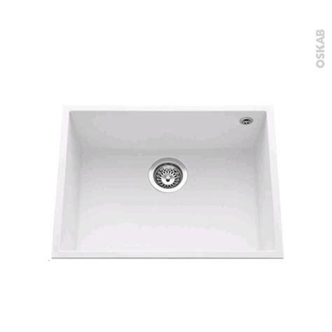 Evier Sous Plan Granit by Evier De Cuisine Garda Granit Blanc 1 Cuve Carr 233 58 X 44