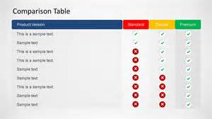 Powerpoint Comparison Template by 3d Comparison Table Powerpoint Template Slidemodel