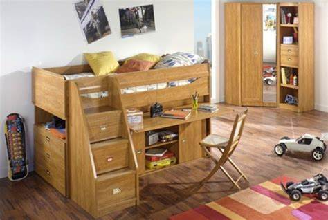 Cabin Bed With Desk And Futon by Work Rest Play Junior Rooms