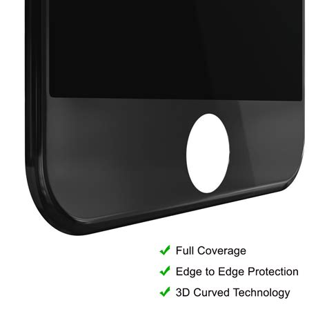 Tempered Glass 3d Iphone 66 Black White 3d tempered glass screen protector apple iphone 8 plus black