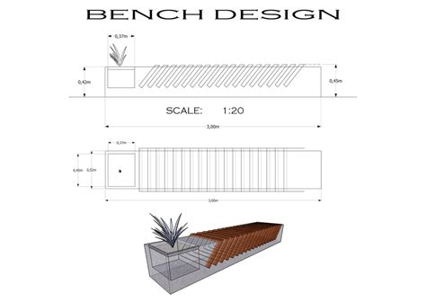 wood bench detail woodwork concrete bench making pdf plans