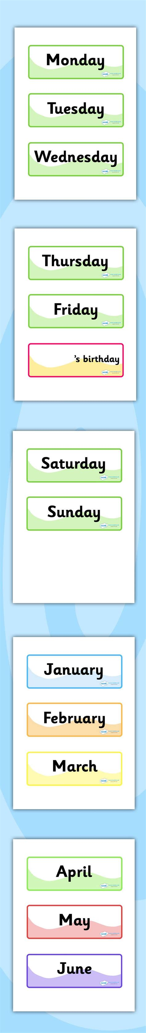 printable calendar ks1 twinkl resources gt gt days of the week months of the year