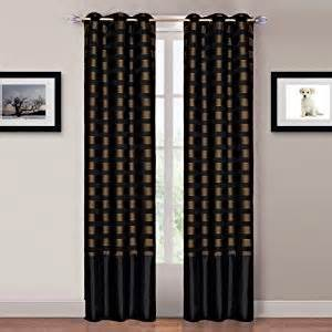 Black Gold Curtains Bedford Home 2 Panel Grommet Curtains Black Gold Window Treatment Curtains