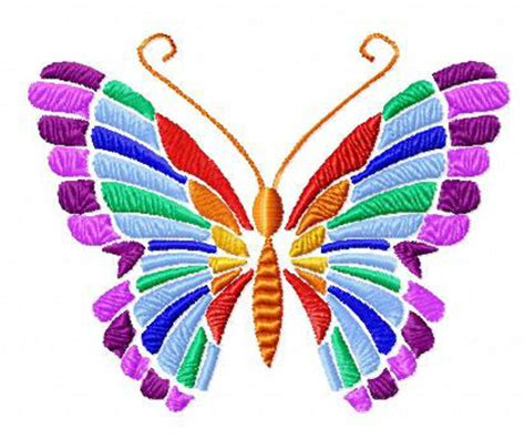 Embroidery Clipart Designs 4 hobby machine embroidery designs butterflies
