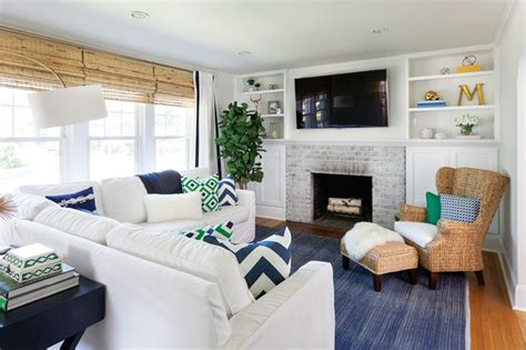 lovely living room westchester home fall  westchester ny