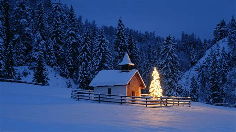 White Barn Candle Winter Cabin by Die 73 Besten Winter Wallpapers