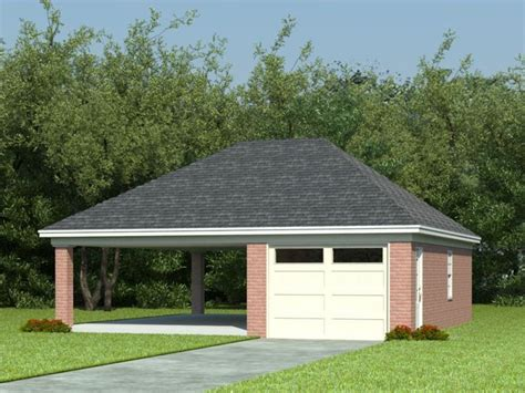 carport garage plans garage plans with carports 1 car garage plan with car