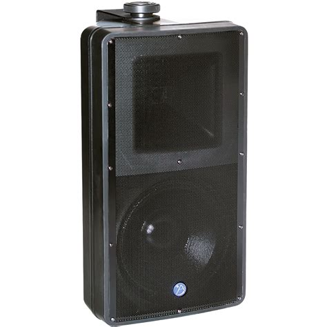 Speaker Indoor atlas surface mount speaker sm82t b black 2 way 8 woofer horn weatheproof outdoor indoor