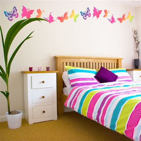 bedroom wall decoration ideas cute butterfly bedroom wall decal mural ideas for teen