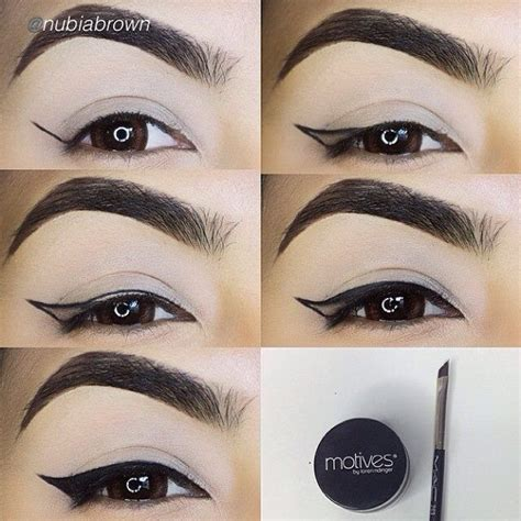 review tutorial eyeliner motives 174 mineral gel eyeliner eyebrows by and look at