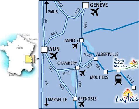 Itinéraire Arc 1800   Accès à la station Arc 1800