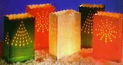 electric luminaries for christmas bloomers spirit