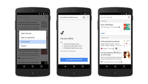 chrome android chrome for android makes it easier to pages offline
