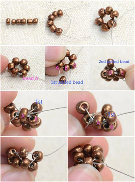 step by step how to make american beaded earrings free on american beaded hoop