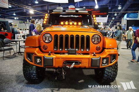orange jeep 2016 2016 sema rugged ridge orange jeep jk wrangler unlimited