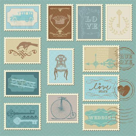 Sticker Einladung Schwarz by Sticker Retro Briefmarken F 252 R Hochzeit Design Einladung