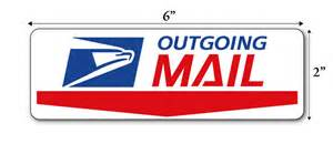 outgoing mail sign decal label sticker ebay