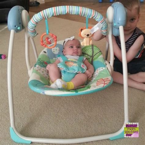 bright starts up up away portable swing bright starts playful pals portable swing review