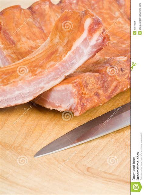 Smoked Rack Of Pork by Rack Of Smoked Pork Rib Royalty Free Stock Image Image