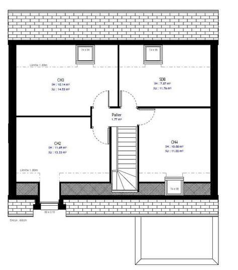 Plan Maison étage 4 Chambres 4289 by Plan De Maison 224 4 Chambres S 233 Lection De 8 Plans De