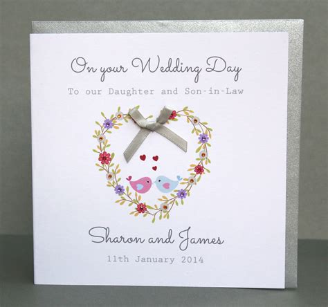 Handmade Personalised Cards Uk - handmade personalised wedding day card flower ebay